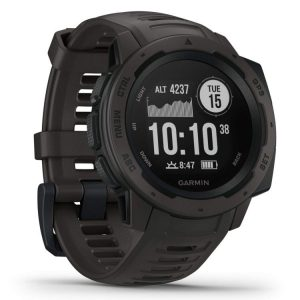The name of Garmin is one that you have probably heard by now if you've been researching outdoor gadgetry for any length of time, and for a good reason: their products are truly built for durability and performance, and this watch—aptly dubbed Instinct—proves it. How? Let's start with all the features you can expect to enjoy this thing. The heart rate monitor is highly accurate while the watch's ability to track your stress and activity levels will surprise you. An invaluable feature when you've been hiking for long time periods. Now let's get back to basics. Offering an in-built 3 axis compass, a highly efficient multi-navigation system (including Glonass and Galileo), and a barometric altimeter, this watch will equip you well to take on the trail no matter where it is. The highly intuitive TracBack technology deserves special mention. It is a mechanism that allows you to backtrack your route from any given point to the starting point. This can make a huge difference when you're scoping out a new trail. We also love the data tracking system on this watch. You can easily hook it up to your smartphone for real-time notifications along with detailed reports of such things as your route and activity levels. Furthermore, you also have the choice to enable automatic data uploads for an even more seamless experience. Garmin hasn't compromised on aesthetic value, either. We love the minimalistic design with its flat, black-and-white display, and understated watch face: functionality without being cumbersome!