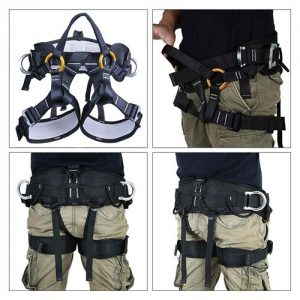 kissloves Full Body Safety Climbing Harness Outdoor Rock Climbing Harness Half Body Harness Safe Seat Belt