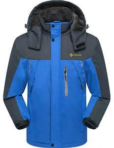 GEMYSE Men's Mountain Waterproof Rain Jacket