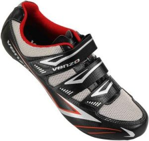 Venzo Bicycle Men's or Women's Road Cycling Riding Shoes - 3 Straps- Compatible with Peloton Shimano SPD & Look ARC Delta (1)