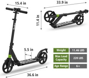 REDLIRO Kick Scooter for Adults-Teens with 2 Big Wheels